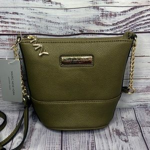 Andrew Marc Xbody Purse | Olive Green | Top Zip